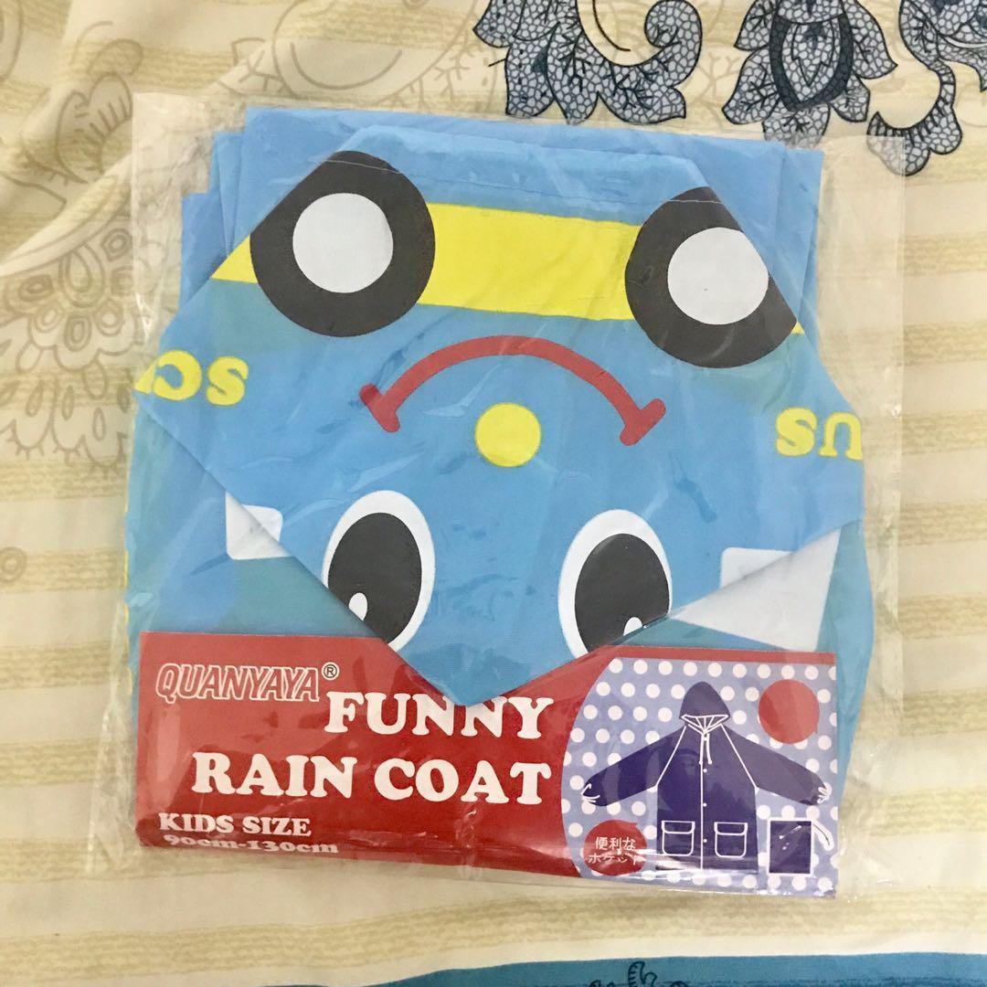 全新 兒童雨衣