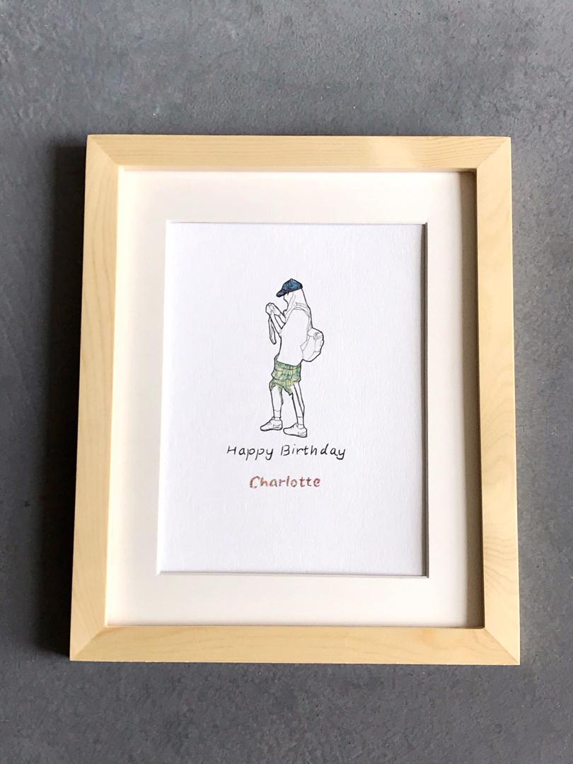客製手繪人像插畫 生日禮物