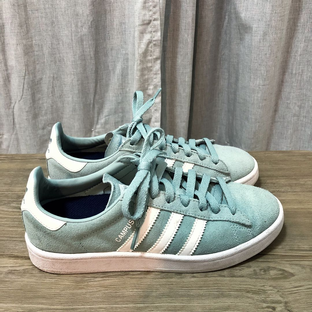 Adidas Campus Shoes Suede Mint Women