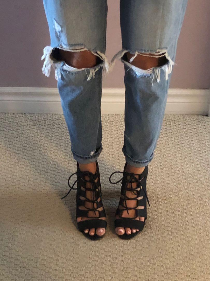 Aldo heeled sandals size 7