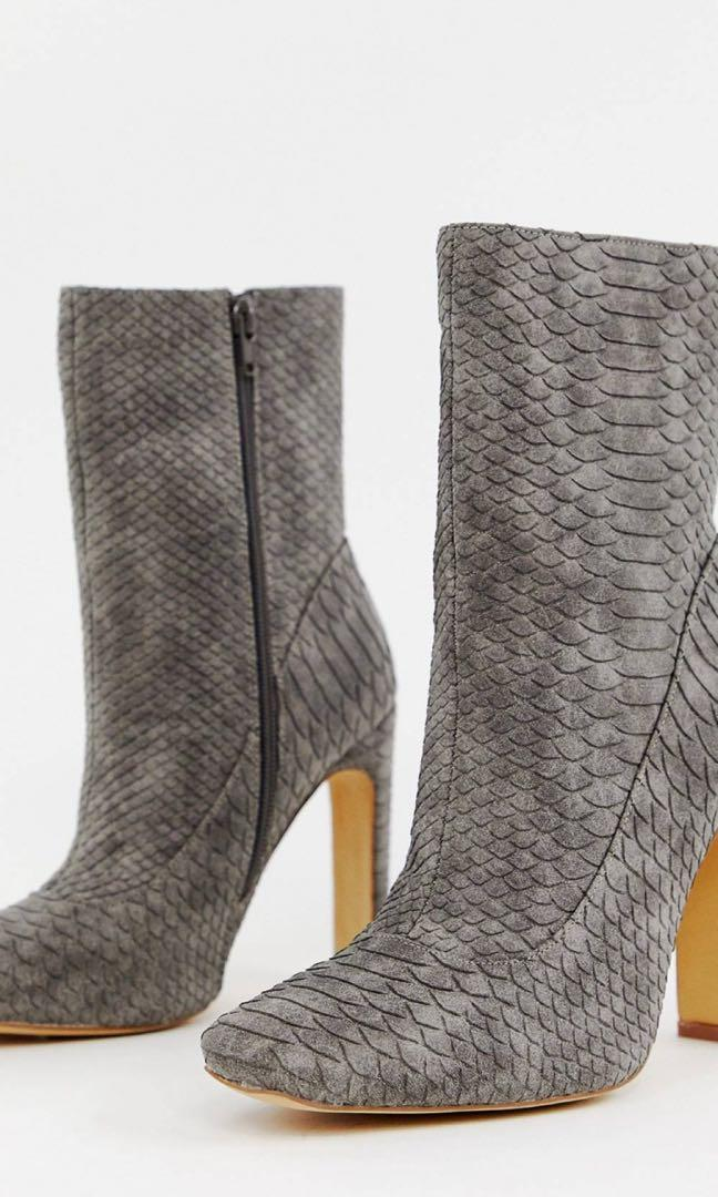 Asos boots missguided grey snake boots 7 40