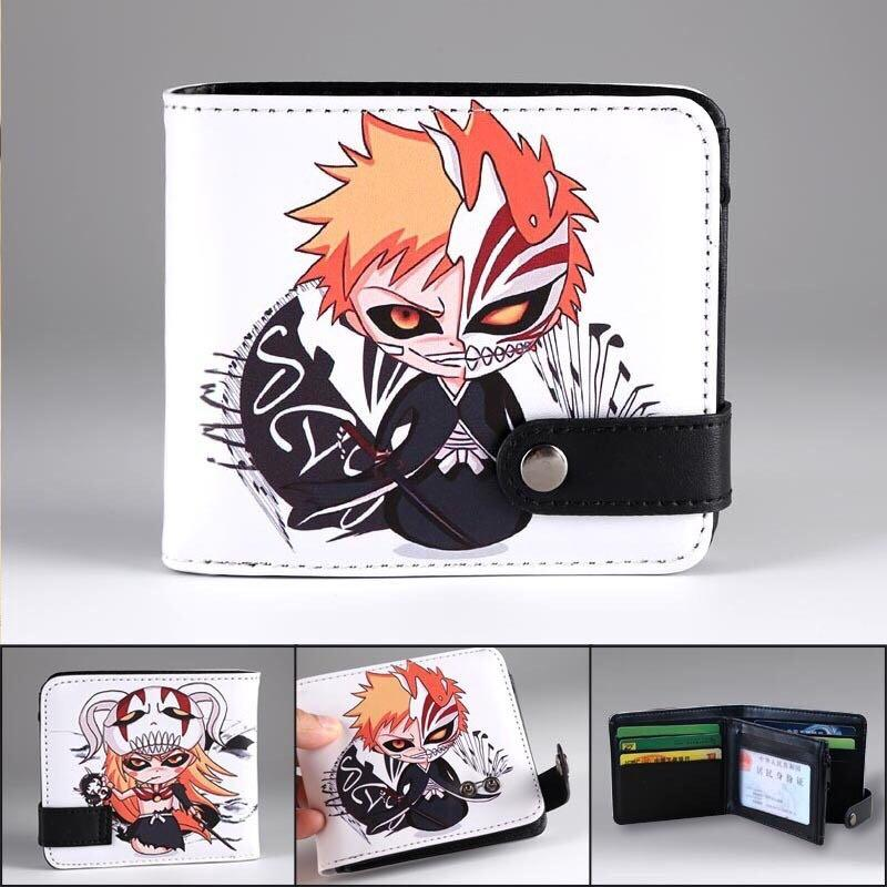 BLEACH Kurosaki ichigo Anime Wallet Multilayer Card Wallet Folding Short Purse