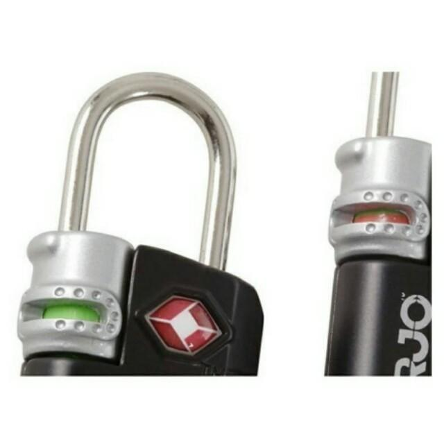 Brand New KORJO TSA Compliant Luggage Lock / Padlock with Indicator (Only Silver color left) $16/piece