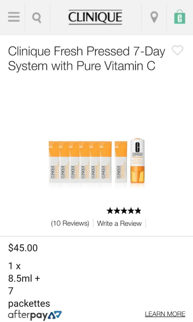 Clinique Fresh Pressed 7-Day System with Pure Vitamin C
