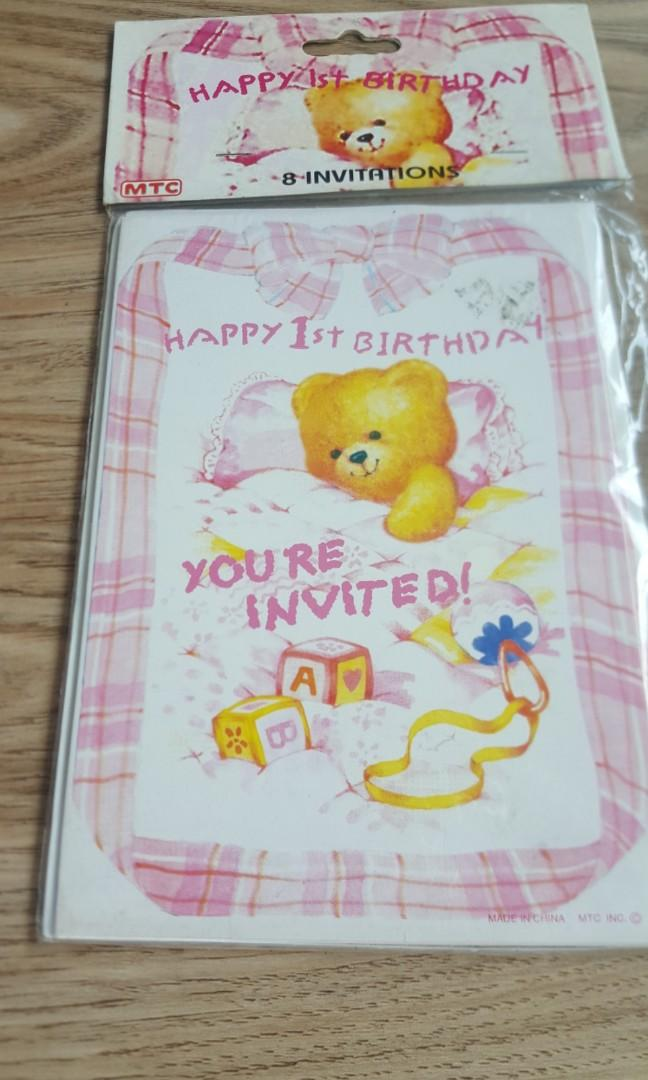 Happy 1st birthday invitation cards