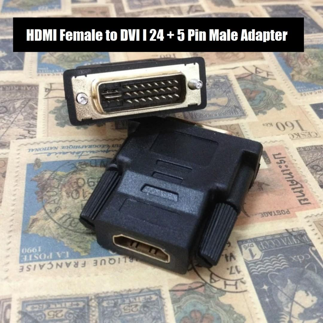 BEST OFFER!! HDMI Female to DVI 24+5 Male Adapter Black