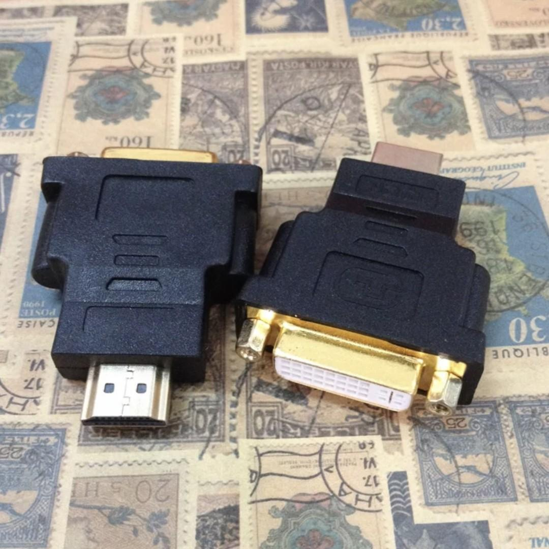 BEST OFFER!! HDMI Male to DVI I 24+5 Pin Female Adapter Black