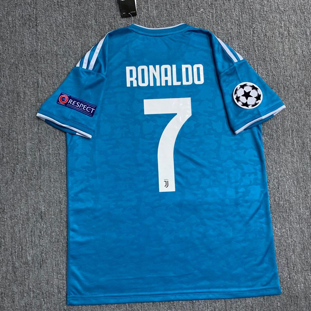 Juventus 19 20 Away Blue Kit Sports Sports Apparel On Carousell