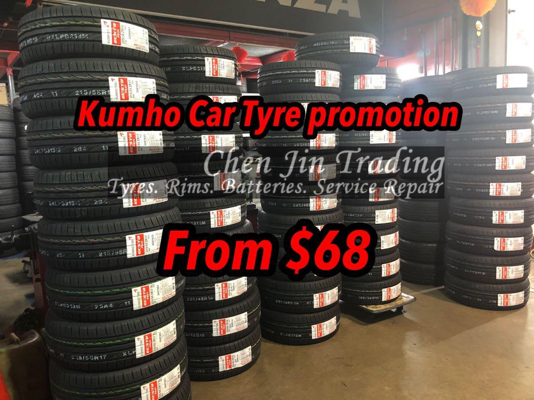 Kumho Ecsta PS31 Car Tyre promotion, from $68 onwards only
