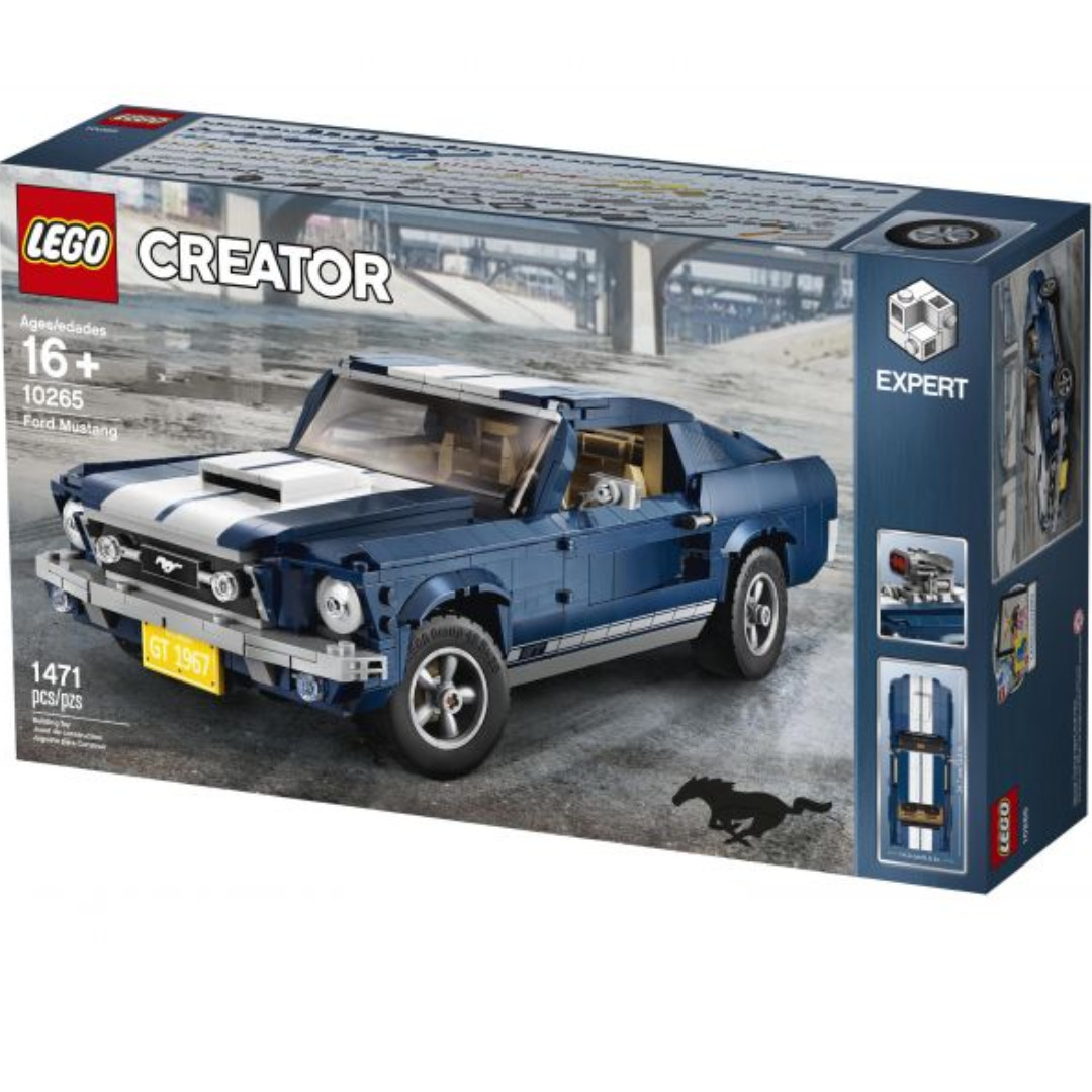 LEGO Creator Expert Ford Mustang 10265 Building Kit, (1471 Pieces), Toys &  Games, Toys on Carousell