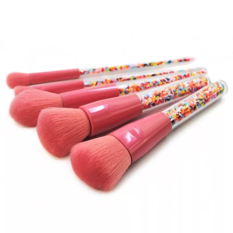 New 5pcs Lollipop Candy Unicorn Crystal Makeup Brushes