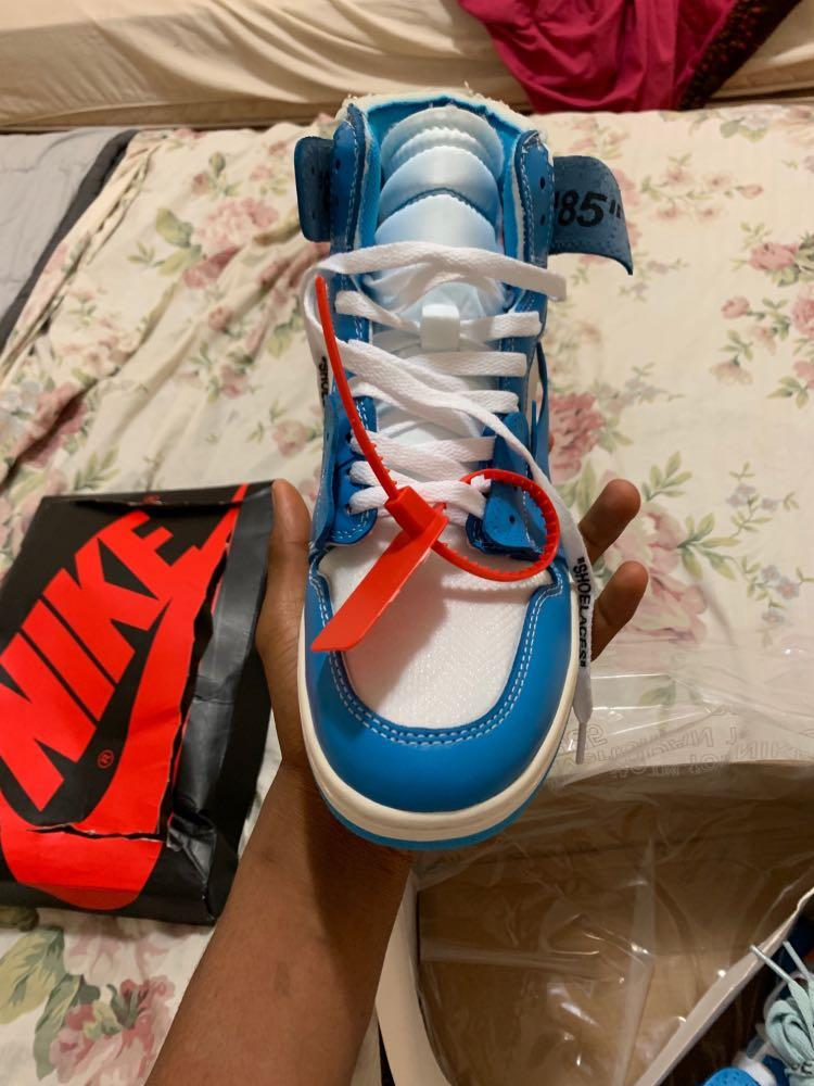 Nike air Jordan 1 off white unc blue