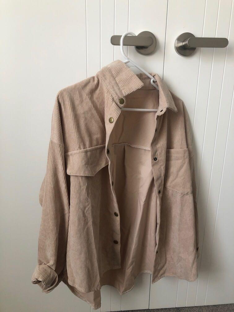 oversized corduroy blouse