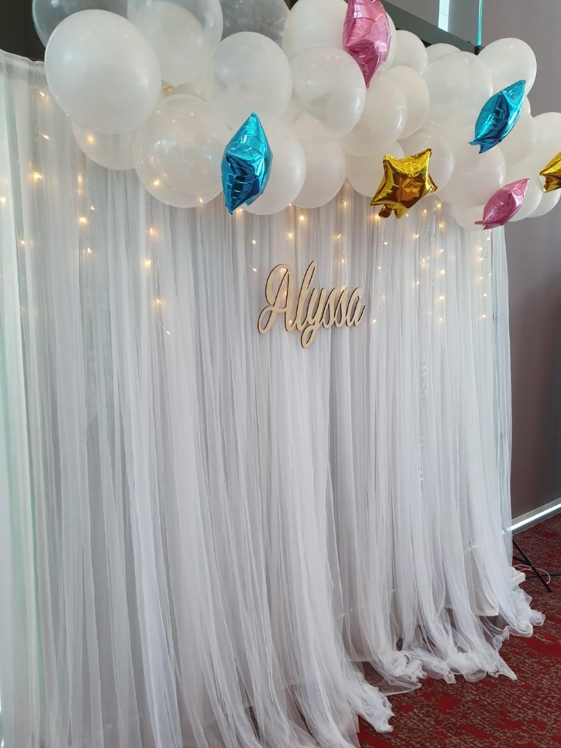 Plywood Backdrop Name Banner