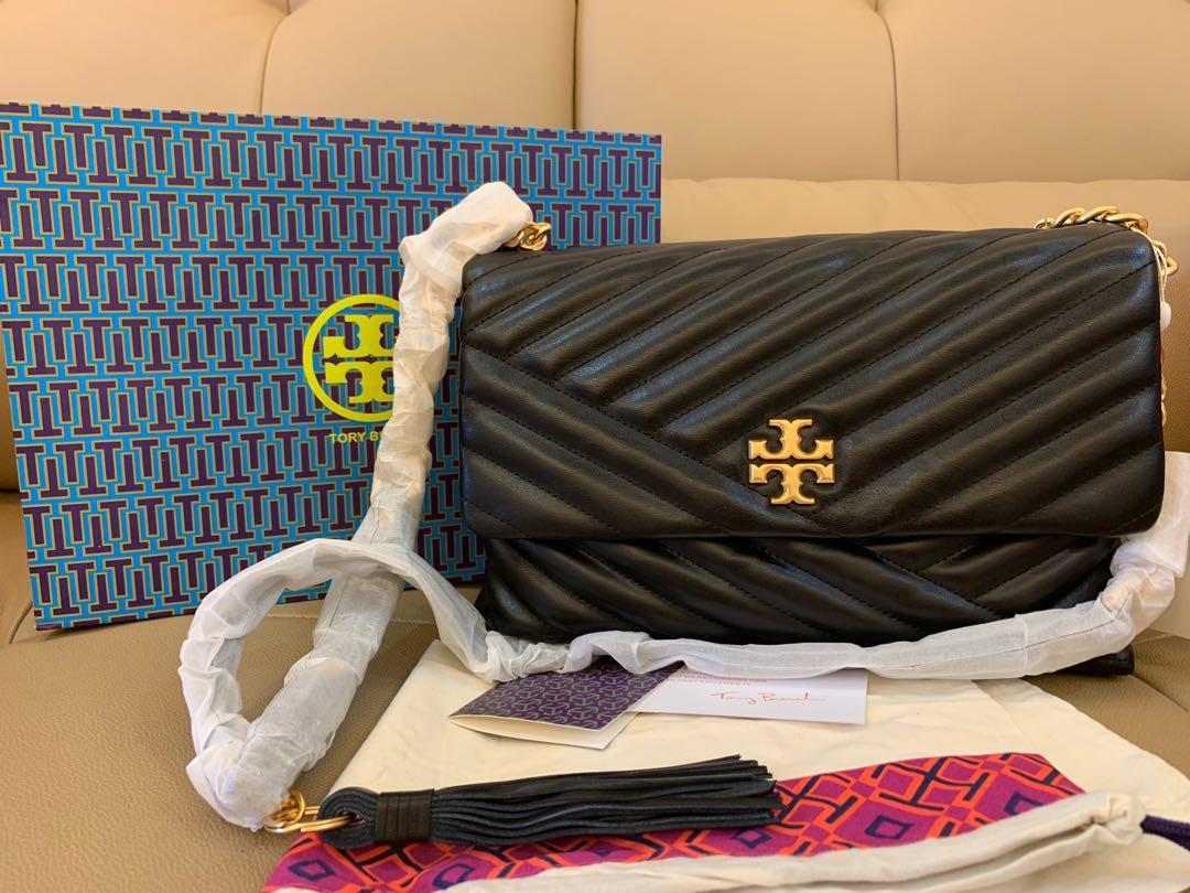 Ready Stock Authentic Tory Burch Kira chevron shouler bag promotion