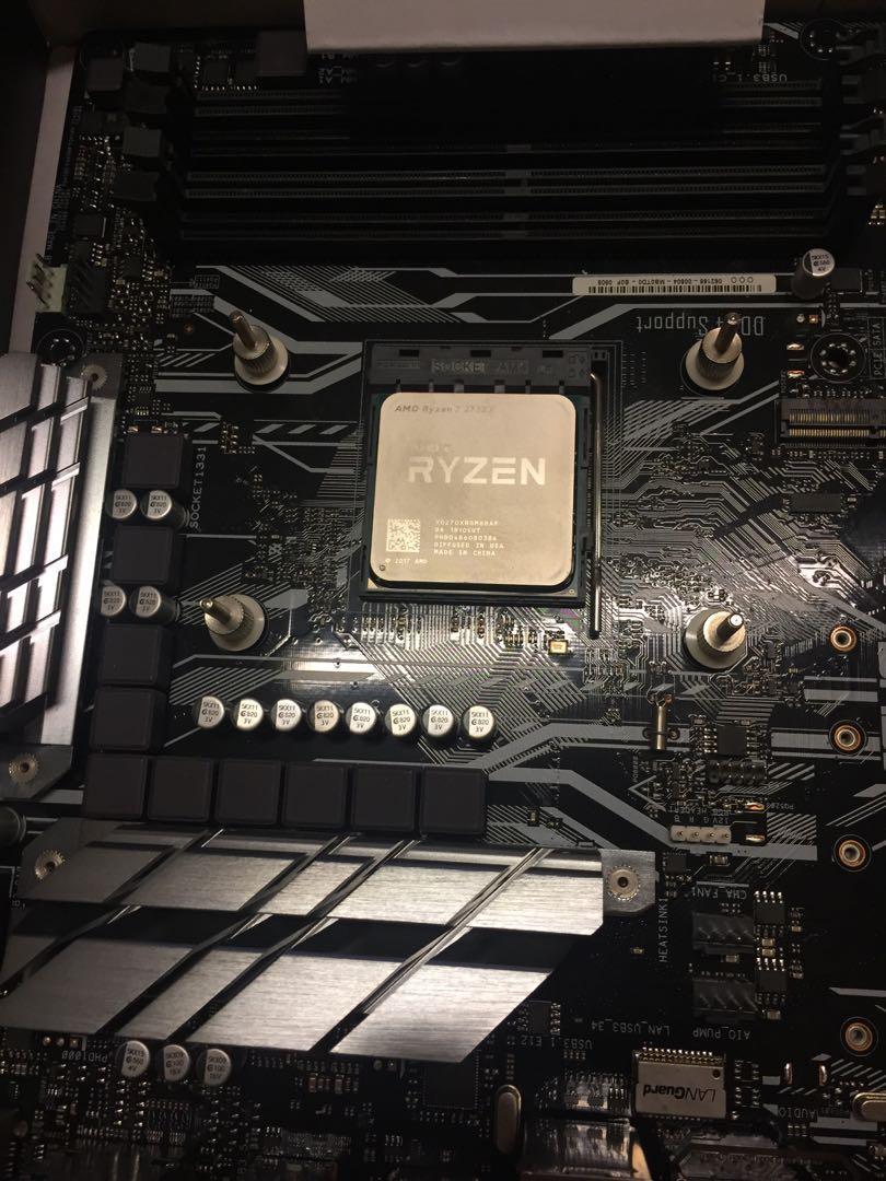 AMD Ryzen 7 2700x CPU 連原裝散熱