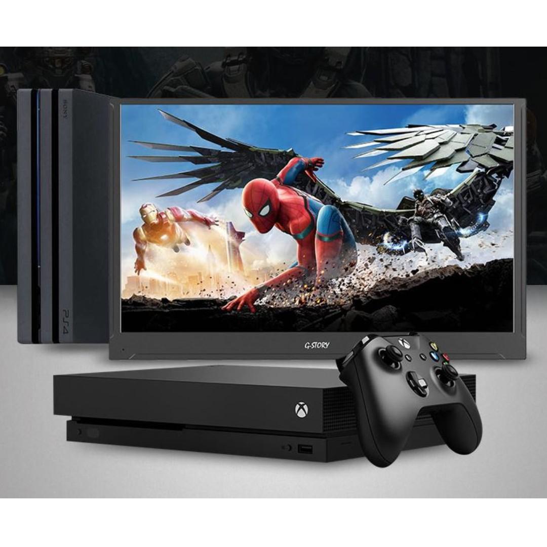 (全新1080p直駁Switch 三星手機 Macbook) 15.6吋 超薄  HDR 低藍光 觸控 手提屏幕 Gaming Display (G-Story)- 玩Ring Fit 必備 (GS156TB)