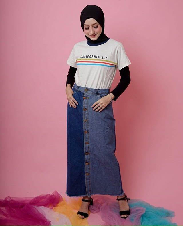 Two Tone Skirt