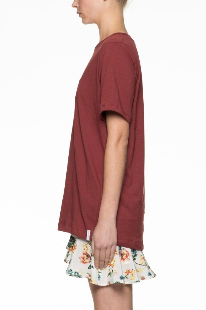 Viktoria & Woods Logo Tee in Crimson - Size 0 RRP $149