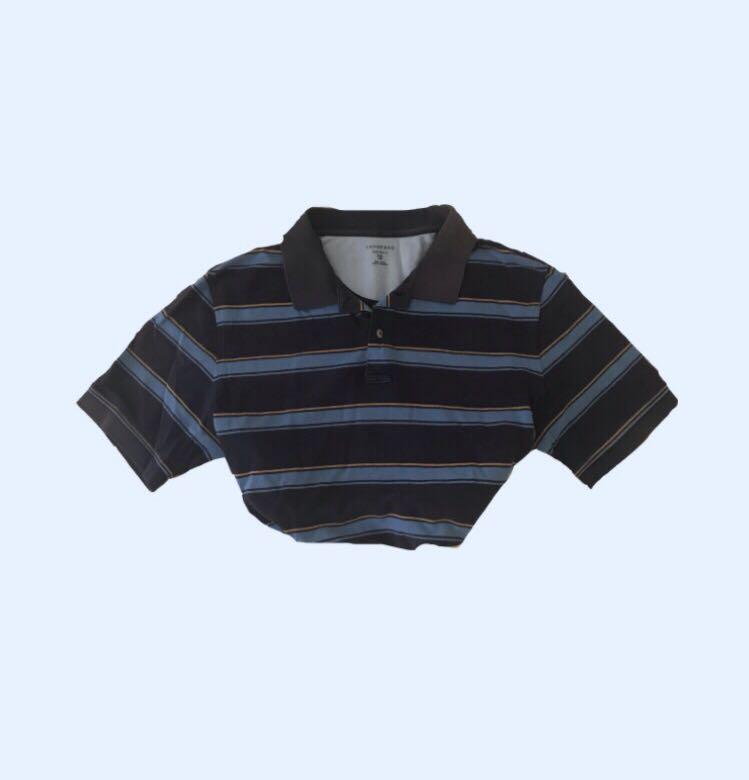 vintage blue striped polo