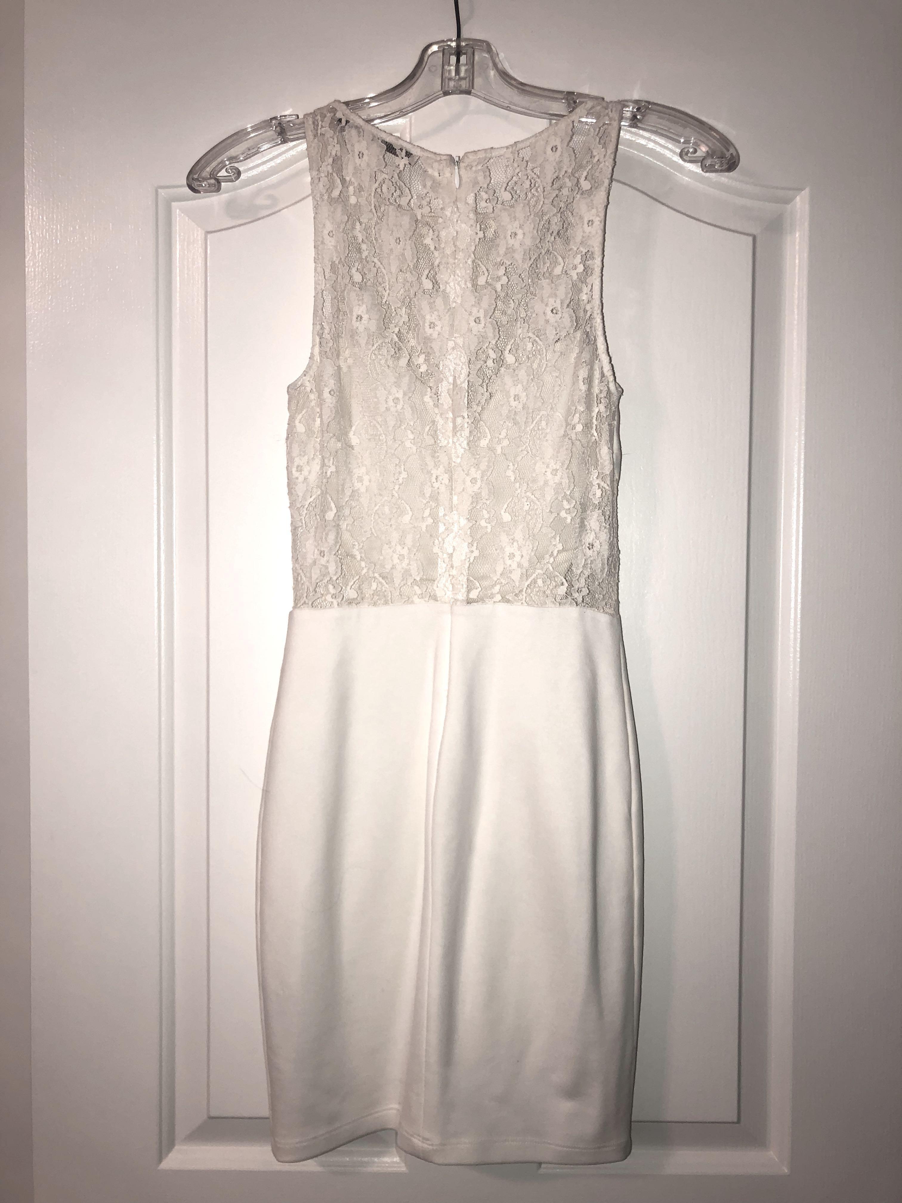 White Zara lace dress