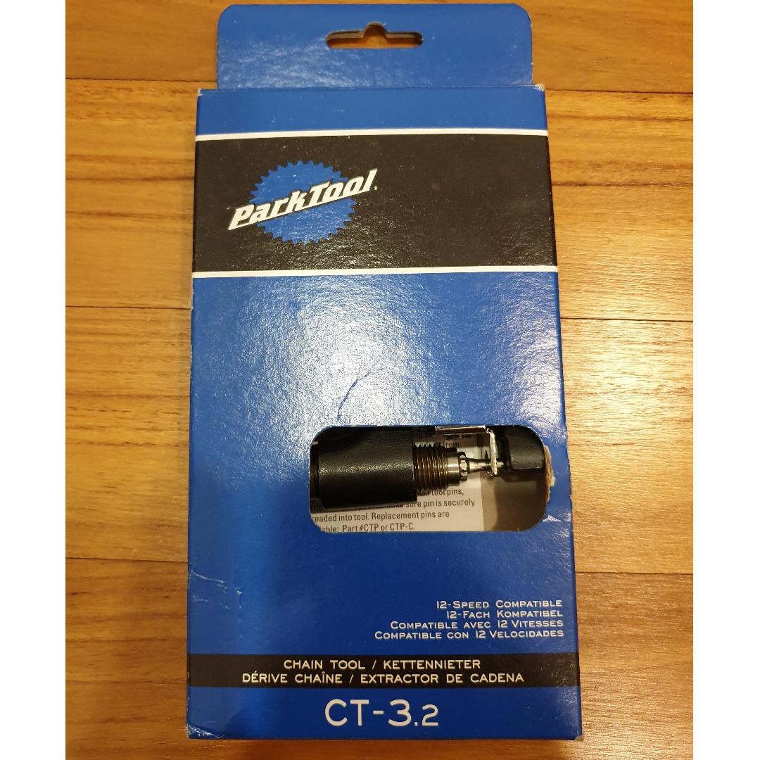 Park Tool CT-3.2 Bicycle Chain Tool Screw Type Works With 5-12 Speed Bikes New