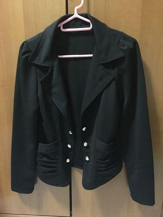 Black casual Blazer with Pockets