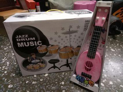 兒童爵士鼓+水果吉他