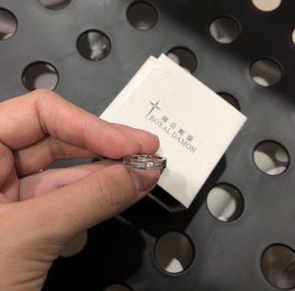 保證正品 羅亞戴蒙 鋼飾水鑽戒指