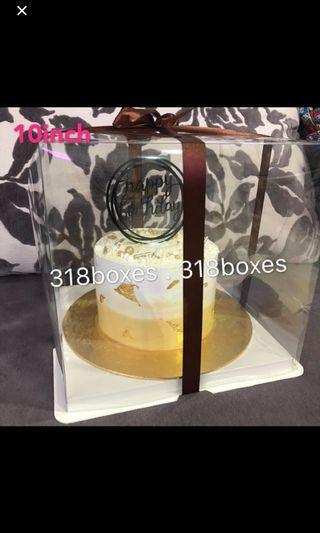 Transparent cake box tall 2 tier 1 tier gift box party