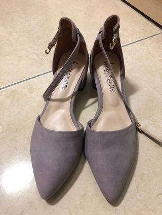 正韓典雅紫色尖頭鞋全新