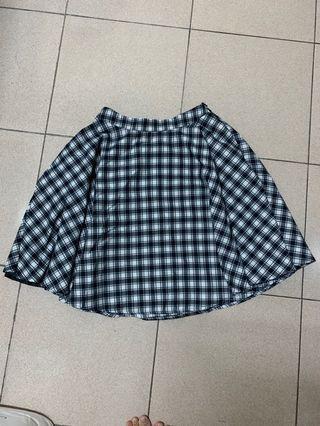 Pazzo 黑白格紋裙