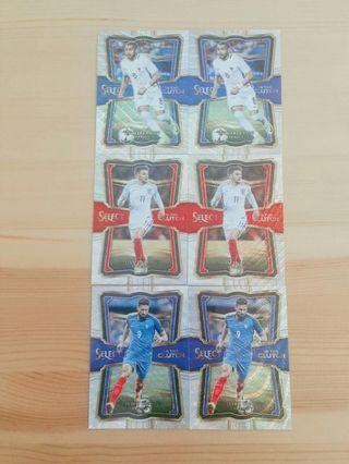 2017/2018 Panini Select Soccer Parallels & Inserts