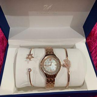 Jam Tangan wanita Swarovski Fullset with Box & Paperbag