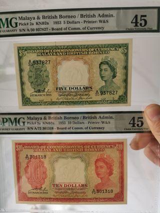 Malaya $5 & $10
