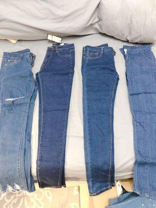 多款二手牛仔褲