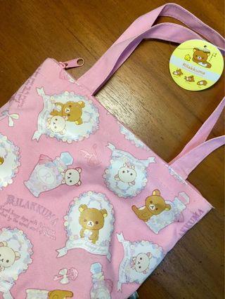 正版Rillakuma拉拉熊小購物袋#恭喜旋轉7歲囉!