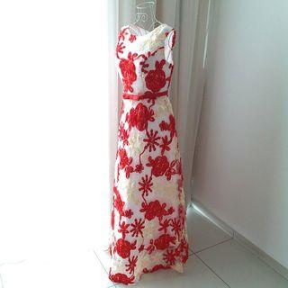 Ribbon Maxi Dinner Dress