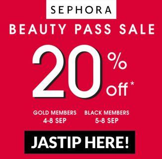 Sephora 20% OFF SALE Jastip Personal Shopper