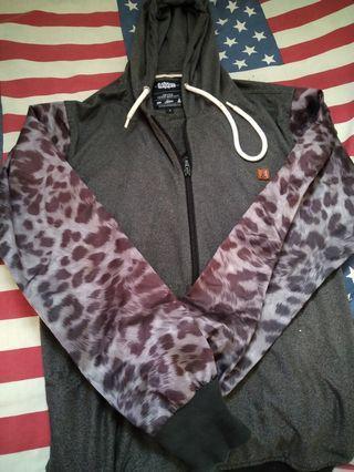 jaket hoodie endorse motif