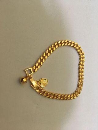 gelang gold rante love