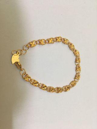 gelang bunga gold