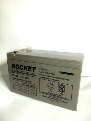 Baterai VRLA UPS Aki Kering Rocket ES9-12 12V 9Ah