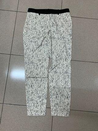 Zara 不規則線條 長褲