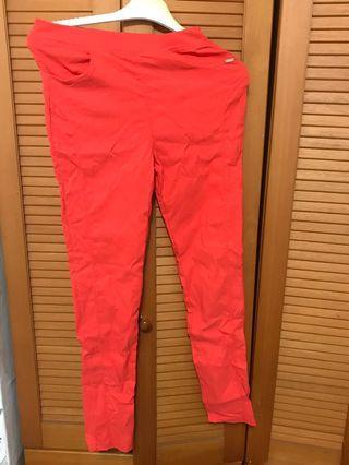 紅橘色宰管收縮長褲🔥