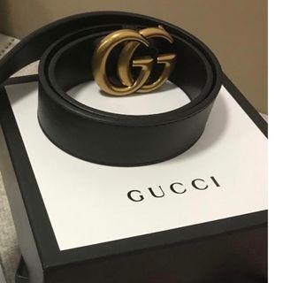 Gucci Double GG Gold Belt