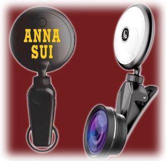ANNA SUl美顏補光燈+廣角RK19S黑色款