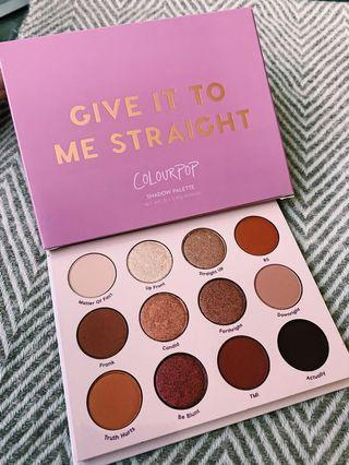 ColourPop - Give It To Me Straight Palette