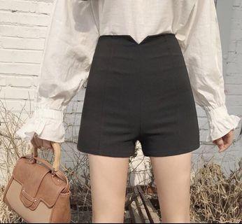 高腰西裝質料短褲