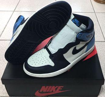 Nike AIR JORDAN 1 RETRO HIGH OG 555088-140 黑曜石 似藤原浩 限量配色 男鞋 全新 US10.5